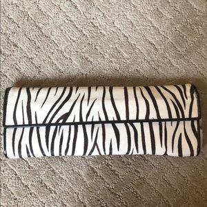 Aldo zebra ponyhair clutch